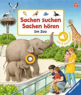43803 Babybücher und Pappbilderbücher Sachen suchen, Sachen hören: Im Zoo von Ravensburger 1