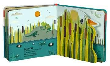 43860 Babybücher und Pappbilderbücher Wie kleine Tiere groß werden: Der kleine Frosch von Ravensburger 7