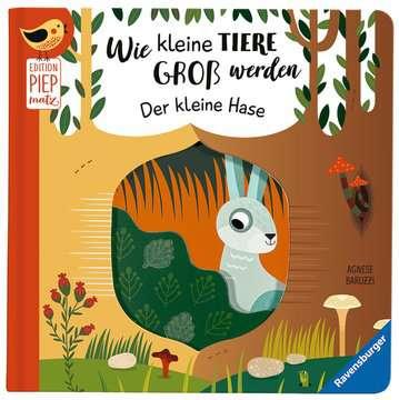 43861 Babybücher und Pappbilderbücher Wie kleine Tiere groß werden: Der kleine Hase von Ravensburger 4