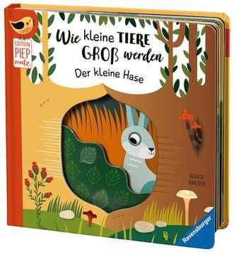43861 Babybücher und Pappbilderbücher Wie kleine Tiere groß werden: Der kleine Hase von Ravensburger 5