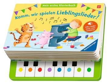 43888 Babybücher und Pappbilderbücher Komm, wir spielen Lieblingslieder! Mein erstes Klavierbuch von Ravensburger 4