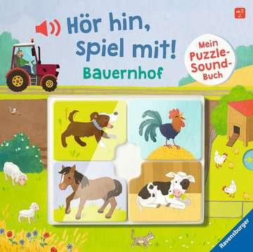 43991 Babybücher und Pappbilderbücher Hör hin, spiel mit! Mein Puzzle-Soundbuch: Bauernhof von Ravensburger 1