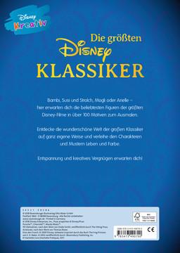 Disney kreativ: Die größten Disney Klassiker -  100 Motive zum Ausmalen Kinderbücher;Malbücher und Bastelbücher - Bild 3 - Ravensburger