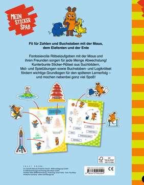 49109 Lernbücher und Rätselbücher Mein Sticker Spaß Die Maus: Lustige Vorschulrätsel von Ravensburger 3