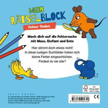 49132 Lernbücher und Rätselbücher Die Maus Mein Rätselblock Fehler finden von Ravensburger 3
