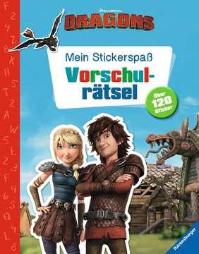 49149 Malbücher und Bastelbücher Mein Stickerspaß Dreamworks Dragons: Vorschulrätsel von Ravensburger 1