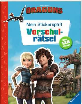 49149 Malbücher und Bastelbücher Mein Stickerspaß Dreamworks Dragons: Vorschulrätsel von Ravensburger 2