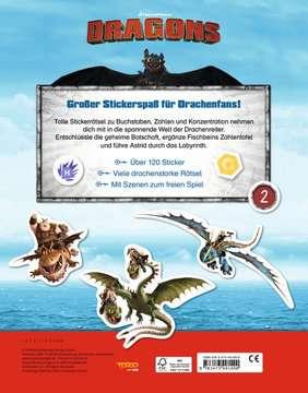 49149 Malbücher und Bastelbücher Mein Stickerspaß Dreamworks Dragons: Vorschulrätsel von Ravensburger 3