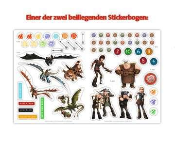 49149 Malbücher und Bastelbücher Mein Stickerspaß Dreamworks Dragons: Vorschulrätsel von Ravensburger 6
