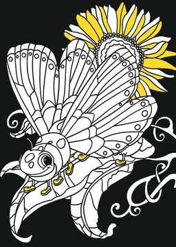 55504 Malbücher und Bastelbücher Mein Neon-Malbuch: Fantasietiere von Ravensburger 4