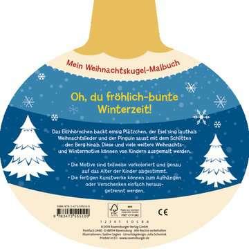 55510 Malbücher und Bastelbücher Mein Weihnachtskugel-Malbuch: Winterzauber von Ravensburger 3