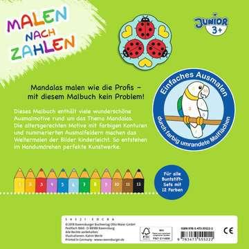 55522 Malbücher und Bastelbücher Malen nach Zahlen junior: Mandalas von Ravensburger 3