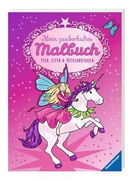55670 Malbücher und Bastelbücher Mein zauberhaftes Malbuch: Feen, Elfen und Meerjungfrauen von Ravensburger 2