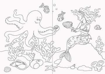 55670 Malbücher und Bastelbücher Mein zauberhaftes Malbuch: Feen, Elfen und Meerjungfrauen von Ravensburger 3