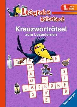 55675 Lernbücher und Rätselbücher Kreuzworträtsel zum Lesenlernen (1. Lesestufe), lila von Ravensburger 1