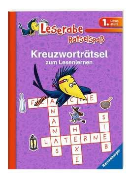 55675 Lernbücher und Rätselbücher Kreuzworträtsel zum Lesenlernen (1. Lesestufe), lila von Ravensburger 2