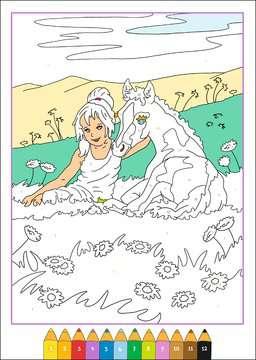 55776 Malbücher und Bastelbücher Malen nach Zahlen: Pferdeträume von Ravensburger 3