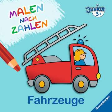 55778 Malbücher und Bastelbücher Malen nach Zahlen junior: Fahrzeuge von Ravensburger 1