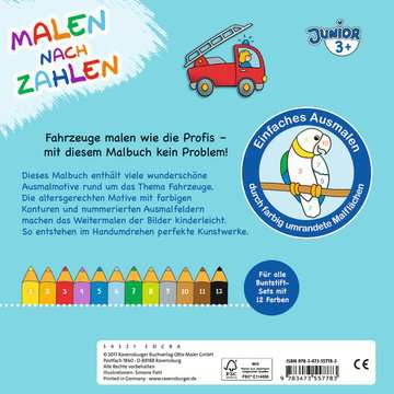 55778 Malbücher und Bastelbücher Malen nach Zahlen junior: Fahrzeuge von Ravensburger 3