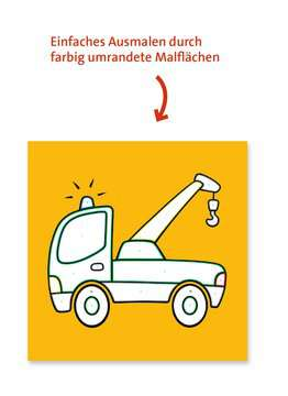 55778 Malbücher und Bastelbücher Malen nach Zahlen junior: Fahrzeuge von Ravensburger 4