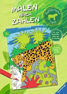 Malen nach Zahlen: Gefährliche Tiere Kinderbücher;Malbücher und Bastelbücher - Bild 1 - Ravensburger