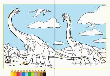 Malen nach Zahlen: Dinosaurier Kinderbücher;Malbücher und Bastelbücher - Bild 3 - Ravensburger