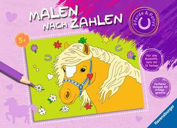 55865 Malbücher und Bastelbücher Malen nach Zahlen: Pferde und Ponys von Ravensburger 1