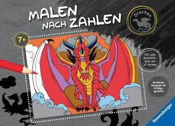 55867 Malbücher und Bastelbücher Malen nach Zahlen: Drachen von Ravensburger 1