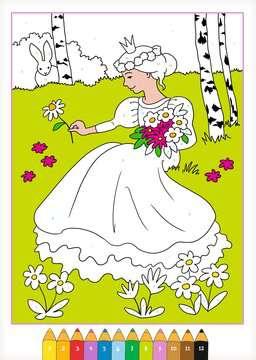 55870 Malbücher und Bastelbücher Malen nach Zahlen: Prinzessinnen von Ravensburger 3