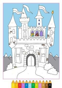 55870 Malbücher und Bastelbücher Malen nach Zahlen: Prinzessinnen von Ravensburger 4