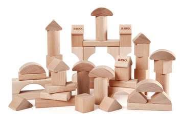 63011300 Baby und Vorschule Natur Holzbausteine 50Teile von Ravensburger 2