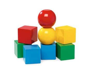63012300 Baby und Vorschule Magnetische Holzbausteine von Ravensburger 2