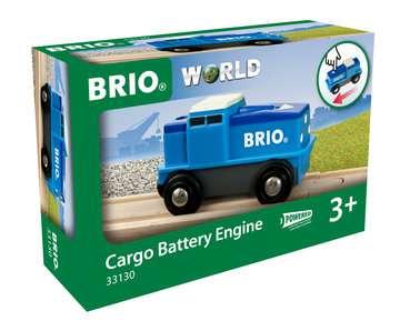63313000 BRIO Eisenbahn Blaue Batterie Frachtlok von Ravensburger 1