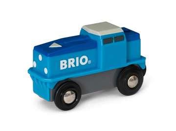 63313000 BRIO Eisenbahn Blaue Batterie Frachtlok von Ravensburger 2