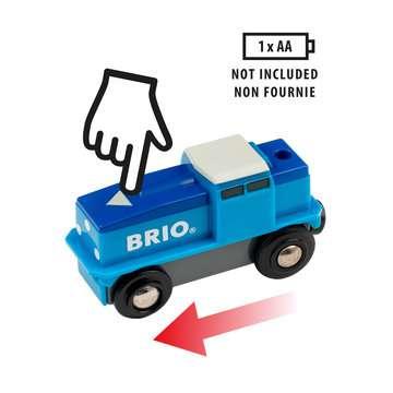 63313000 BRIO Eisenbahn Blaue Batterie Frachtlok von Ravensburger 4