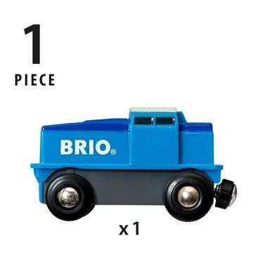 63313000 BRIO Eisenbahn Blaue Batterie Frachtlok von Ravensburger 5