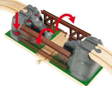63339100 BRIO Eisenbahn Einsturzbrücke von Ravensburger 4
