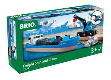 63353400 BRIO Eisenbahn Containerschiff mit Kranwagen von Ravensburger 1