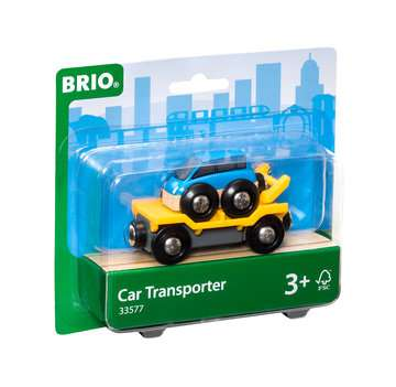 63357700 BRIO Eisenbahn Autotransporter mit Rampe von Ravensburger 1