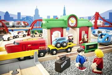 63357800 BRIO Eisenbahn Sprechender Bahnhof von Ravensburger 5