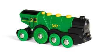 63359300 BRIO Eisenbahn Grüner Gustav Batterielok von Ravensburger 3