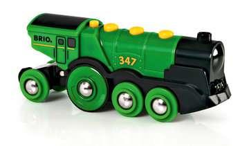 63359300 BRIO Eisenbahn Grüner Gustav Batterielok von Ravensburger 4