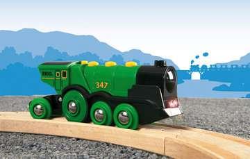 63359300 BRIO Eisenbahn Grüner Gustav Batterielok von Ravensburger 6