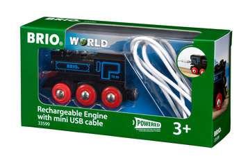 63359900 BRIO Eisenbahn Schwarze Akku-Lok mit Mini-USB von Ravensburger 1