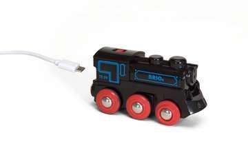 63359900 BRIO Eisenbahn Schwarze Akku-Lok mit Mini-USB von Ravensburger 2