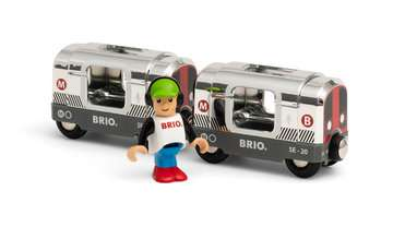 63383800 BRIO Eisenbahn Silberne U-Bahn (Special Edition 2020) von Ravensburger 3