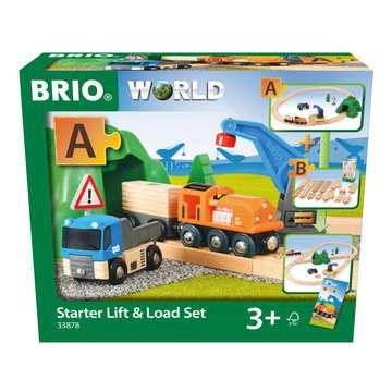63387800 BRIO Eisenbahn Starterset Güterzug mit Kran von Ravensburger 1