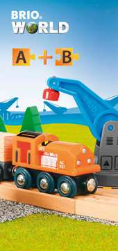 63387800 BRIO Eisenbahn Starterset Güterzug mit Kran von Ravensburger 9