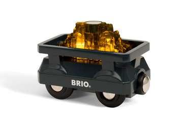 63389600 BRIO Eisenbahn Goldwaggon mit Licht von Ravensburger 2