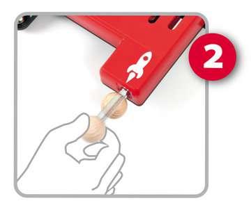 63401700 BRIO Spiele Holz-Flipper Space Safari von Ravensburger 7